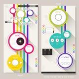 Kleurrijke het ontwerpmalplaatje van de paginawebsite stock illustratie