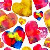 Kleurrijke het patroonachtergrond van de hartliefde Stock Foto