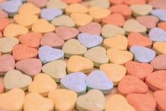Kleurrijke het suikergoedharten van de valentijnskaart` s dag stock foto's