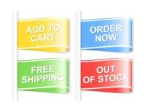 Kleurrijke het winkelen etiketten Stock Fotografie