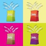 Kleurrijke het winkelen zakken stock illustratie