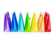 Kleurrijke het winkelen zakken Stock Afbeelding