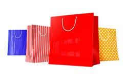 Kleurrijke het Winkelen Zakken Royalty-vrije Stock Afbeeldingen