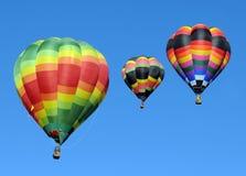 Kleurrijke hete luchtballons Stock Foto's