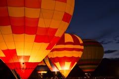 Kleurrijke hete luchtballons Royalty-vrije Stock Foto's
