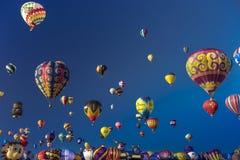 Kleurrijke Hete Luchtballons bij de de Ballonfiesta van Albuquerque, Alb royalty-vrije stock foto's
