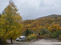 Kleurrijke heuvel Stock Fotografie