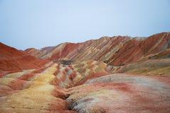 Kleurrijke heuvels Stock Afbeeldingen