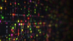 Kleurrijke hexadecimale grote gegevens digitale code Stock Afbeelding