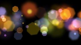 Kleurrijke hexagon bokeh 4K royalty-vrije illustratie