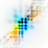 Kleurrijke hi-tech achtergrond met cirkels Royalty-vrije Stock Afbeeldingen