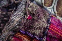 Kleurrijke Hippiestof Stock Afbeelding