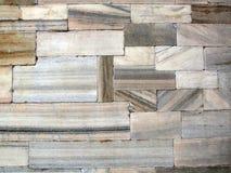 Kleurrijke historische marmeren muur Stock Foto