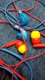 Kleurrijke hoofdtelefoons Stock Foto