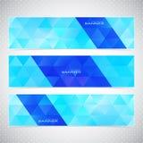 Kleurrijke Horizontale Reeks van Bannersmozaïek Royalty-vrije Stock Foto