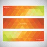 Kleurrijke Horizontale Reeks van Bannersmozaïek Royalty-vrije Stock Afbeelding