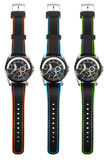 Kleurrijke horloges Stock Foto
