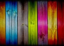 Kleurrijke Houten Achtergrond stock foto's