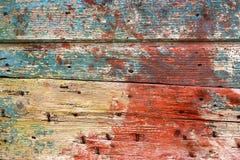 Kleurrijke Houten Achtergrond Stock Fotografie