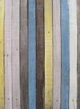 Kleurrijke Houten Muur Stock Foto's