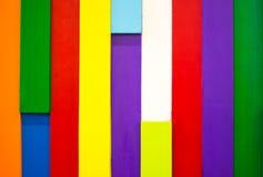 Kleurrijke houten muurachtergrond 12 Stock Afbeeldingen