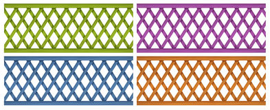 Kleurrijke houten omheiningen Stock Fotografie
