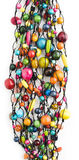 Kleurrijke Houten Parelshalsband Stock Fotografie