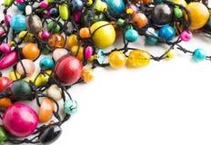 Kleurrijke Houten Parelshalsband Royalty-vrije Stock Afbeelding