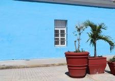 Kleurrijke huisvesting in koloniale Cienfuegos, Cuba royalty-vrije stock foto