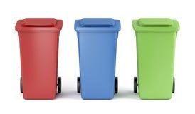 Kleurrijke huisvuilbakken Stock Foto