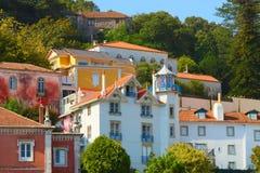 Kleurrijke huizen Stock Afbeeldingen
