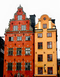 Kleurrijke huizen stock fotografie