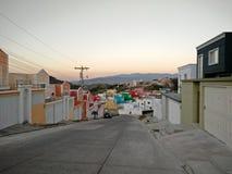 Kleurrijke huizen stock afbeelding