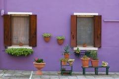 Kleurrijke huizen Royalty-vrije Stock Afbeeldingen