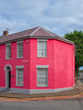 Kleurrijke huizen in Aberaeron, Wales Royalty-vrije Stock Fotografie