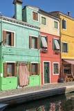 Kleurrijke huizen in Burano Royalty-vrije Stock Fotografie