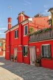 Kleurrijke huizen in Burano Royalty-vrije Stock Afbeelding