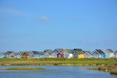 Kleurrijke Huizen Christchurch Engeland Dorset Stock Fotografie