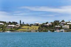 Kleurrijke Huizen in de Bermudas. Hamilton van de binnenstad royalty-vrije stock afbeeldingen