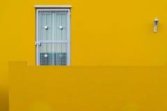 Kleurrijke huizen in de historische buurt BO-Kaap in Cape Town Stock Foto's