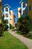 Kleurrijke huizen in Dominicaanse Republiek Royalty-vrije Stock Foto