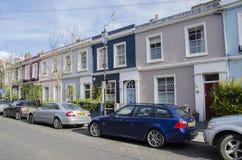 De heuvelhuizen van Notting Stock Afbeeldingen