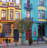 Kleurrijke huizen, Istanboel. Royalty-vrije Stock Foto's