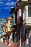 Kleurrijke huizen op stadsstraat - Istanboel Stock Foto