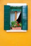 Kleurrijke huizen van Burano, Venetië, Italië Stock Afbeelding