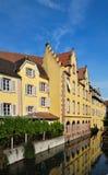 Kleurrijke huizen van de Elzas, Frankrijk Stock Afbeelding