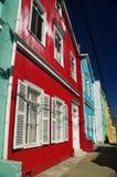 Kleurrijke huizen van Valparaiso Royalty-vrije Stock Foto's
