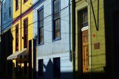Kleurrijke huizen van Valparaiso Stock Foto
