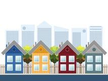 Kleurrijke Huizen voor Verkoop Stock Foto's