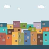 Kleurrijke Huizen voor Verkoop/Huur De huizen van onroerende goederen?, Vlakten voor verkoop of voor huur Royalty-vrije Stock Afbeelding